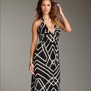 NWT Tart Collections Geometric Halter Maxi Dress